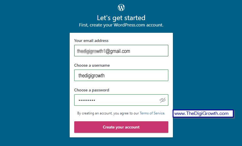 Wordpress free Signup form