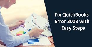 Solutions of QuickBooks Error code 3003