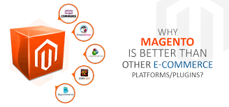 Why is Magento favored over other e-commerce services?