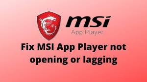 MSI Gaming App Not Launching