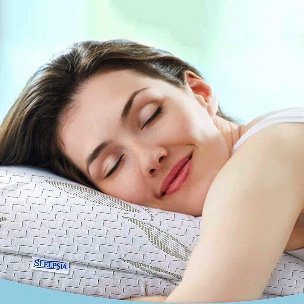Bamboo Pillow, Foam Pillow by Sleepsia-76f5a2d1
